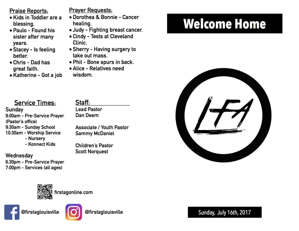 LFA Bulletin 7-16-2017 - Front and Back